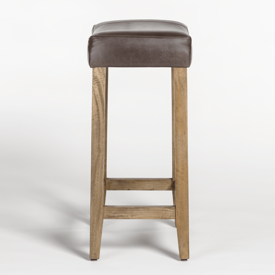 Knox Saddle Bar Stool in Refined Slate & Brindled Ash - Monroe & Kent Home (4703841878099)