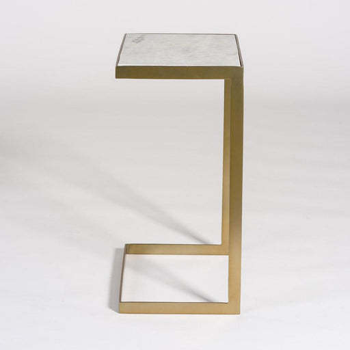 Laguna Accent Table in Antique Brass - Monroe & Kent Home