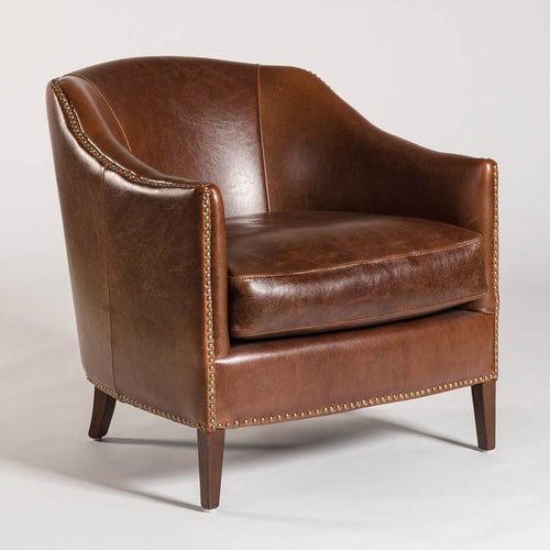 Madison Occasional Chair - Antique Saddle - Monroe & Kent Home