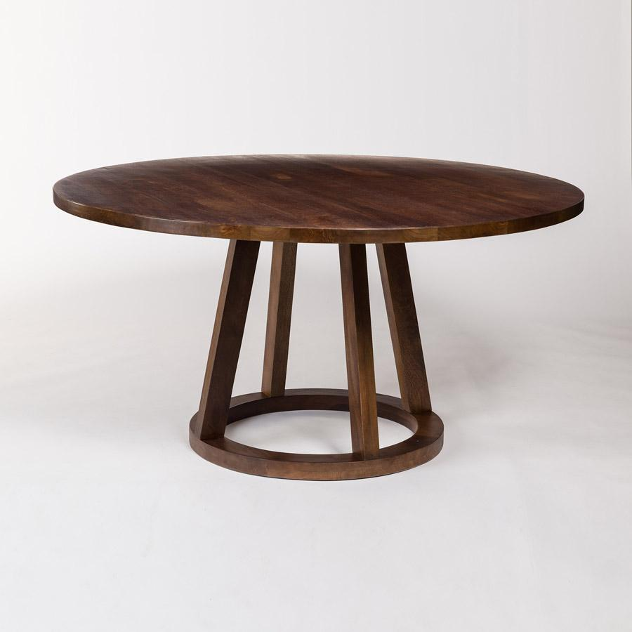 "Mendocino 60"" Round Dining Table in Dark Chestnut - Monroe & Kent Home"