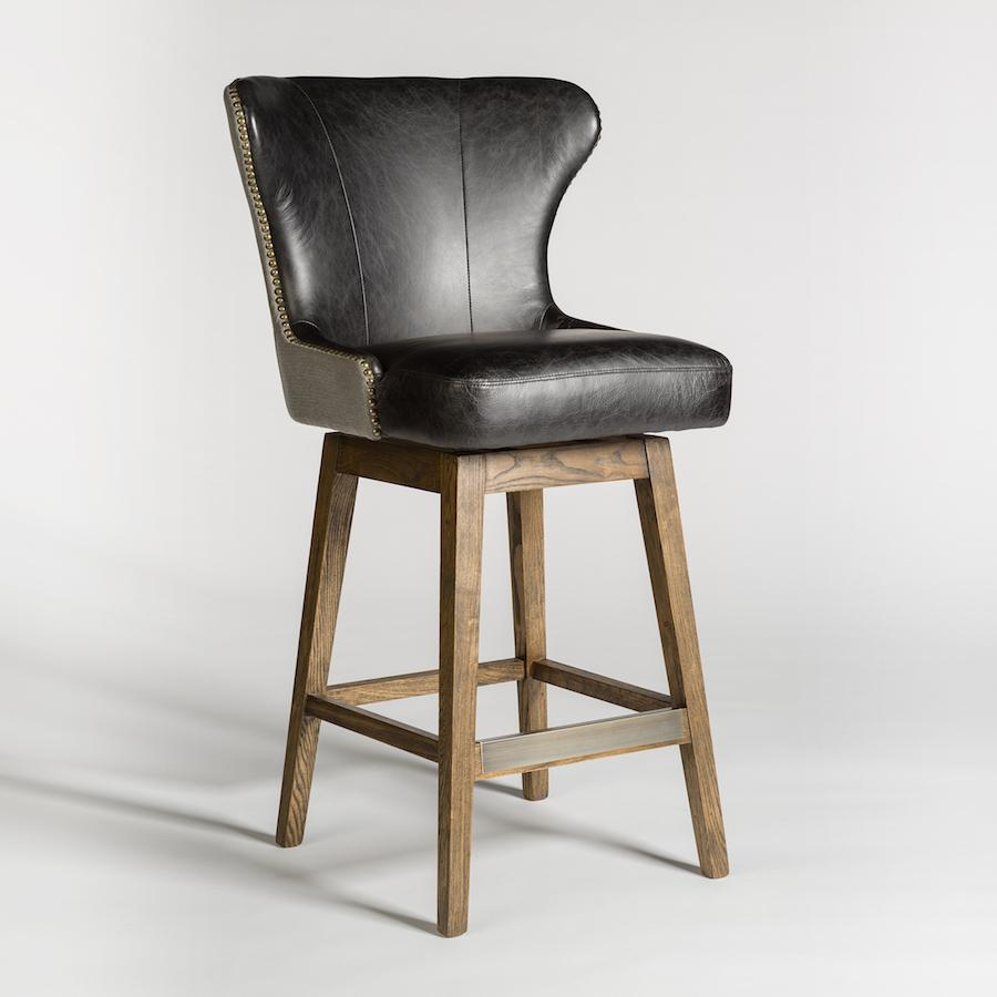 Rockwell Swivel Bar Stool - Monroe & Kent Home (4704257474643)