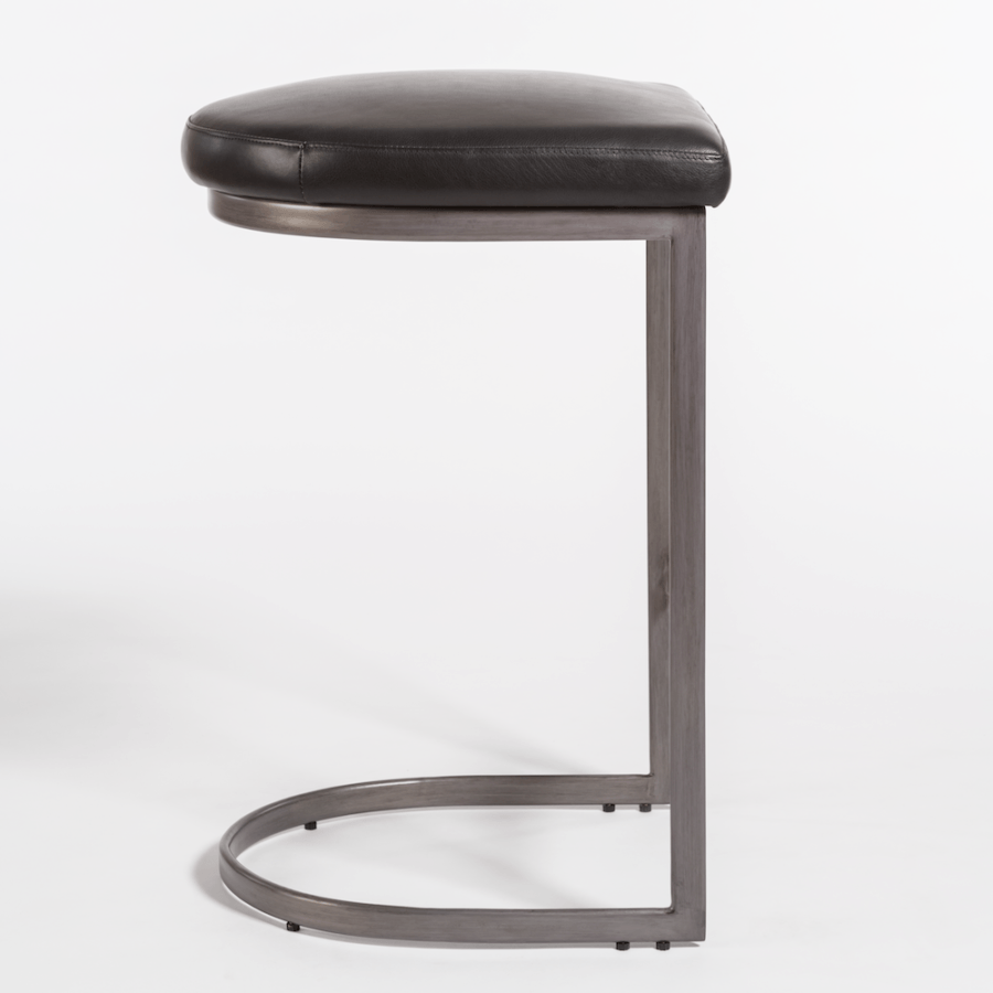 San Rafael Bar Stool in Aged Obsidian - Monroe & Kent Home (4704259670099)