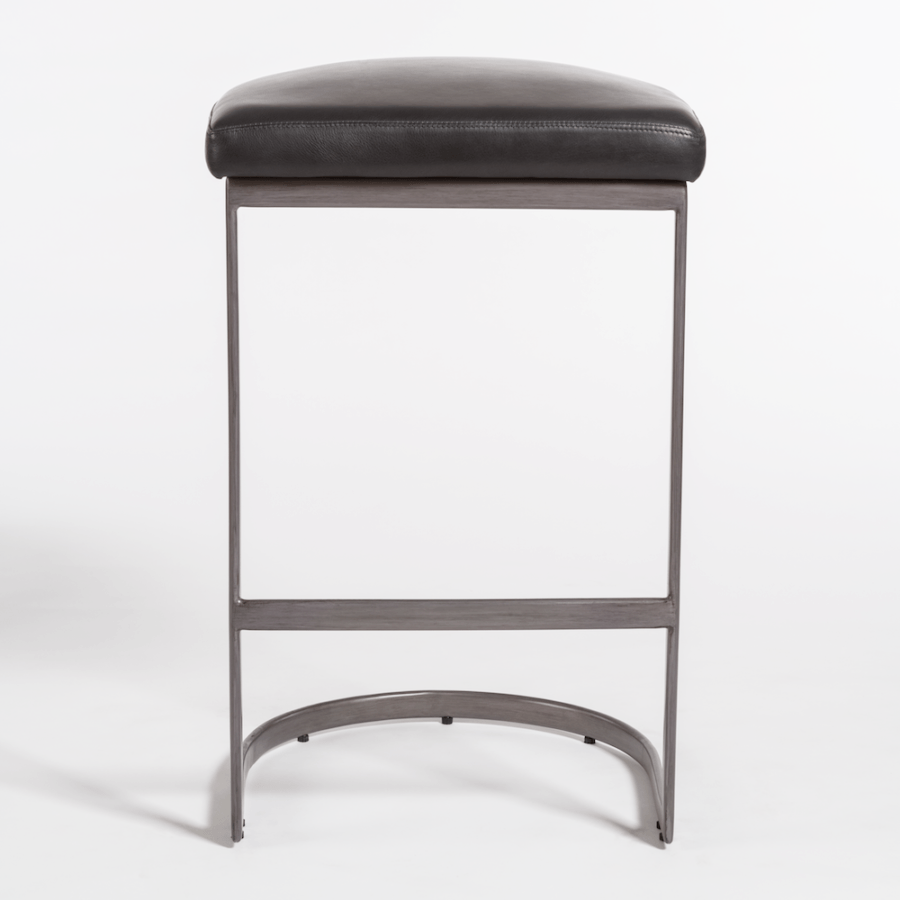San Rafael Counter Stool in Aged Obsidian - Monroe & Kent Home