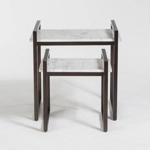 Santa Barbara Nesting Tables in Gunmetal - Monroe & Kent Home