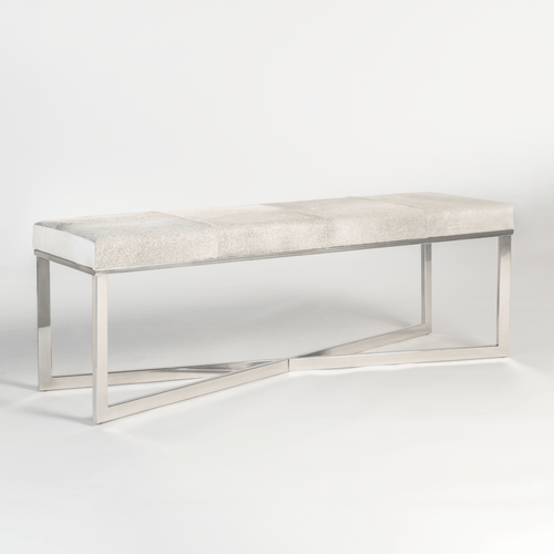Scottsdale Bench in Frosted Hide - Monroe & Kent Home