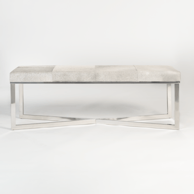 Scottsdale Bench in Frosted Hide - Monroe & Kent Home (4472719867987)