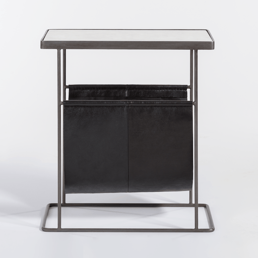 Stanton Accent Table in Aged Obsidian - Monroe & Kent Home