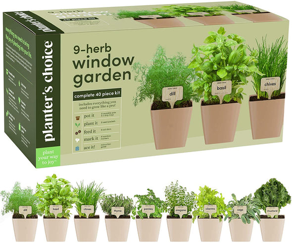9 Herb Window Garden