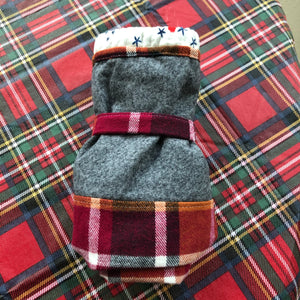 Berry plaid linen lined sock size