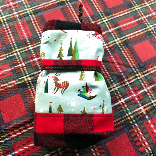 Christmas fleece sock size