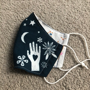 Blue stars fabric mask