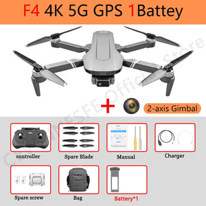 F4 drone 4k 5G HD mechanical gimbal camera gps system supports TF card drones Stabilier distance 2km flight 25 min VS SG906 Pro