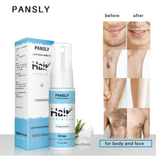 Load image into Gallery viewer, PANSLY Hair Growth Inhibitor Painless Hair Removal spray Shrink Pores for Private Parts Leg Facial Hair Smooth Skin - Vipbeautycompany