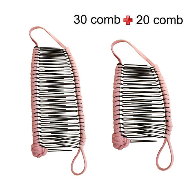 Hair Clip Hairpins and dish Girls Curly Hair Accessory Stretchable Banana Comb Hairpins Pins Styling Hair Coloring Chalk - Vipbeautycompany