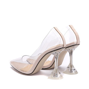 11cm Ultra high heels Women Pumps Comfortable clear cup heeled Female Party Wedding Shoes Elegant Pointed toe Office lady Shoes - Vipbeautycompany