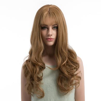 Popular Sexy Women Long Curly Wavy Wig Party Fashion Natural Looking Hair Wig - Vipbeautycompany