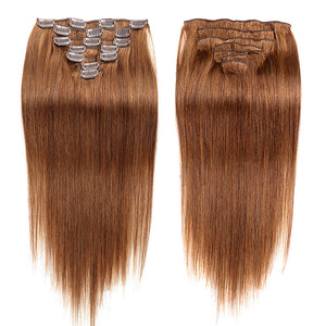 Febay Clip In Human Hair Extensions Straight Human Hair - Vipbeautycompany