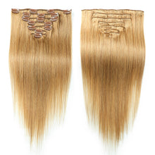Load image into Gallery viewer, Febay Clip In Human Hair Extensions Straight Human Hair - Vipbeautycompany