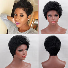 Load image into Gallery viewer, Human Hair Capless Wigs Human Hair Natural Wave Pixie Cut / Short Hairstyles 2019 / With Bangs Halle Berry Hairstyles Cool and Refreshing / African American Wig Short Machine Made Wig Women's - Vipbeautycompany