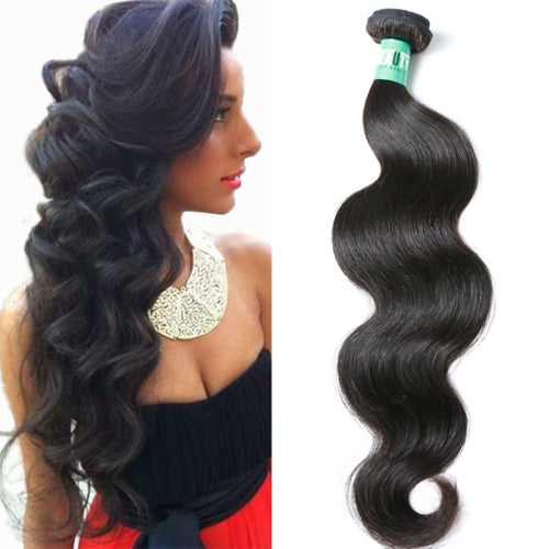1 Bundle Brazilian Hair Body Wave 10A Virgin Human Hair Natural Color Hair Weaves / Hair Bulk 12-30 inch Human Hair Weaves 4a Human Hair Extensions - Vipbeautycompany