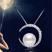 Load image into Gallery viewer, Women's Pendant Necklace Moon Crescent Moon Ladies Classic Fashion Pearl S925 Sterling Silver Silver 45 cm Necklace Jewelry For Daily - Vipbeautycompany