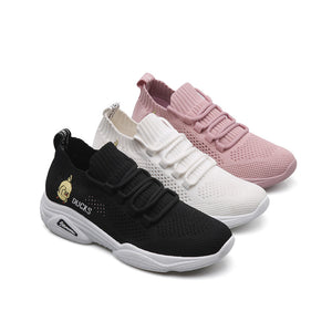 Women's Tissage Volant Spring &  Fall / Spring & Summer Sneakers Flat Heel White / Black / Pink - Vipbeautycompany