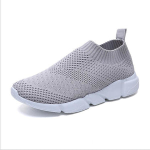 Women's Mesh Fall / Spring & Summer Casual Sneakers Flat Heel Round Toe Black / Gray / Pink - Vipbeautycompany