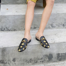 Load image into Gallery viewer, Women's PU(Polyurethane) Summer Casual Clogs & Mules Flat Heel Round Toe Black - Vipbeautycompany