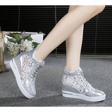 Load image into Gallery viewer, Women's PU(Polyurethane) Summer Sneakers Hidden Heel White / Silver - Vipbeautycompany