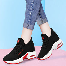 Load image into Gallery viewer, Women's Sneakers Sporty Look Wedge Heel Mesh Sweet / Minimalism Spring &  Fall / Summer Black / Black / Red - Vipbeautycompany
