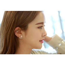 Load image into Gallery viewer, Women's Crystal Stud Earrings Jacket Earrings Flower Daisy Elegant Sterling Silver Crystal S925 Sterling Silver Earrings Jewelry Gold / Silver / Rose Gold For Christmas Wedding Party Special Occasion - Vipbeautycompany