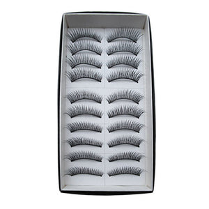 Eyelash Extensions False Eyelashes 20 pcs Volumized / Curly / Extra Long Eyelash Classic Daily Makeup Cosmetic - Vipbeautycompany