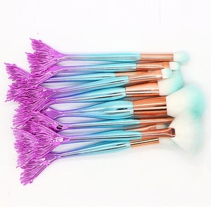 Professional Makeup Brushes Makeup Brush Set 10pcs Synthetic Hair Makeup Brushes for - Vipbeautycompany