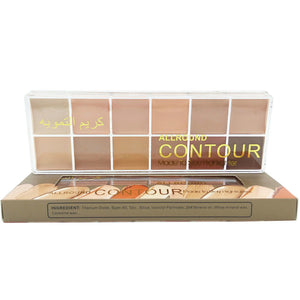 1pcs-makeup-naked-12-colors-natural-face-concealer-cosmetics-12color-palette-make-up-highlighter-contour-set - Vipbeautycompany