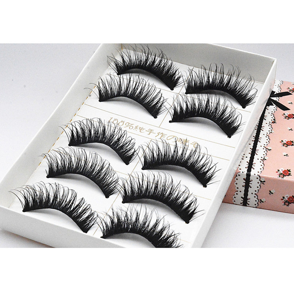 Eyelash Extensions False Eyelashes 10 pcs Lifted lashes Volumized Extra Long Fiber Daily Full Strip Lashes - Makeup Daily Makeup Cosmetic Grooming Supplies - Vipbeautycompany
