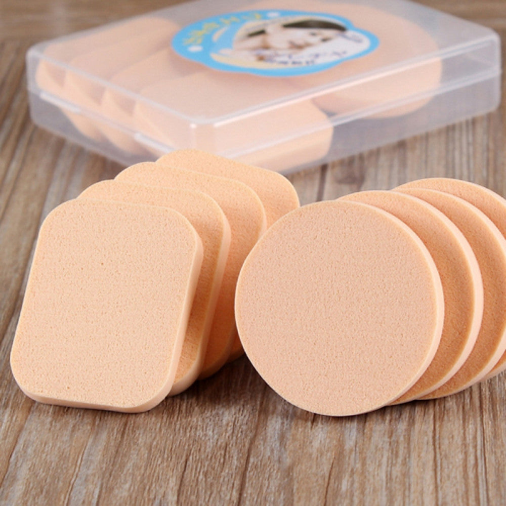 8 pcs Latex-Free Non-Allergenic Round Quadrate Natural Sponges Powder Puff Makeup Sponges Cosmetic Puff For Powder Cream Liquid Beauty Tools Blende - Vipbeautycompany