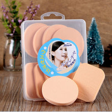 Load image into Gallery viewer, 8 pcs Latex-Free Non-Allergenic Round Quadrate Natural Sponges Powder Puff Makeup Sponges Cosmetic Puff For Powder Cream Liquid Beauty Tools Blende - Vipbeautycompany