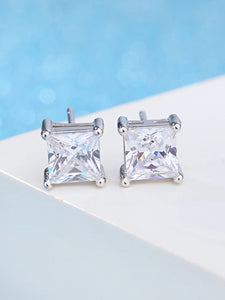 Women's AAA Cubic Zirconia Synthetic Diamond Stud Earrings Drop Earrings Classic Elegant Sterling Silver Cubic Zirconia Earrings Jewelry Silver For Wedding Party Daily Casual 1pc - Vipbeautycompany