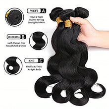 Load image into Gallery viewer, 3 Bundles Brazilian Hair Body Wave Unprocessed Human Hair Natural Color Hair Weaves / Hair Bulk Bundle Hair Human Hair Extensions 8-28 inch Natural Color Human Hair Weaves Odor Free New Arrival Cool - Vipbeautycompany