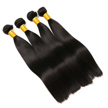 Load image into Gallery viewer, 6 Bundles Brazilian Hair Straight 8A Human Hair Bundle Hair One Pack Solution Human Hair Extensions 8-28 inch Natural Color Human Hair Weaves Extention Best Quality Hot Sale Human Hair Extensions - Vipbeautycompany