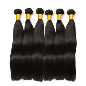 6 Bundles Brazilian Hair Straight 8A Human Hair Bundle Hair One Pack Solution Human Hair Extensions 8-28 inch Natural Color Human Hair Weaves Extention Best Quality Hot Sale Human Hair Extensions - Vipbeautycompany