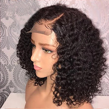Load image into Gallery viewer, Human Hair Glueless Lace Front Lace Front Wig Bob style Brazilian Hair Curly Wig 130% Density with Baby Hair Natural Hairline African American Wig 100% Virgin Unprocessed Women's Short Human Hair - Vipbeautycompany