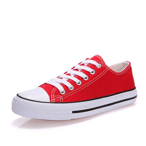 Women's Sneakers Flat Heel Round Toe Canvas Comfort Walking Shoes Spring / Fall Black / Red / Blue - Vipbeautycompany