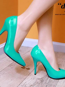 Women's Heels Stiletto Heel Patent Leather Comfort Spring Green / Blue / Pink / Daily - Vipbeautycompany