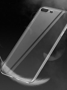 Case For Apple iPhone X / iPhone 8 Plus / iPhone 8 Plating / Ultra-thin / Transparent Back Cover Solid Colored Soft TPU - Vipbeautycompany