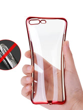 Load image into Gallery viewer, Case For Apple iPhone X / iPhone 8 Plus / iPhone 8 Plating / Ultra-thin / Transparent Back Cover Solid Colored Soft TPU - Vipbeautycompany