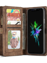 Load image into Gallery viewer, Case For Apple iPhone X / iPhone 8 Plus / iPhone 8 Wallet / Card Holder / with Stand Full Body Cases Solid Colored Hard PU Leather - Vipbeautycompany