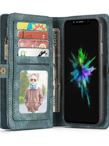 Case For Apple iPhone X / iPhone 8 Plus / iPhone 8 Wallet / Card Holder / with Stand Full Body Cases Solid Colored Hard PU Leather - Vipbeautycompany