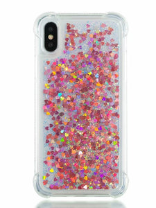 Case For Apple iPhone X / iPhone 8 Plus / iPhone 8 Shockproof / Flowing Liquid / Glitter Shine Back Cover Solid Colored / Glitter Shine Soft TPU - Vipbeautycompany
