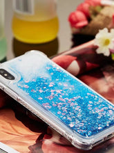 Load image into Gallery viewer, Case For Apple iPhone X / iPhone 8 Plus / iPhone 8 Shockproof / Flowing Liquid / Glitter Shine Back Cover Solid Colored / Glitter Shine Soft TPU - Vipbeautycompany
